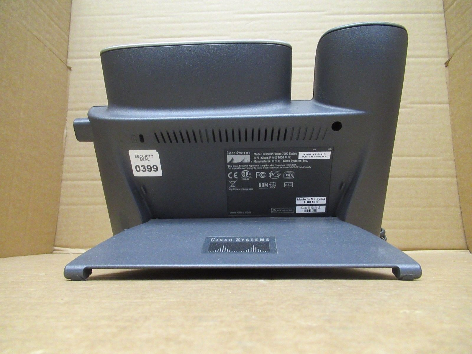 Cisco CP-7941G 7941G 7941 VoIP IP Business Desktop Display